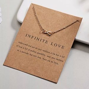 Jewelry - Infinite Love Gold Chain Necklace Dainty Infinity